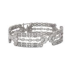 19 ctw Mixed Cut Diamond Designer Bracelet 18K White Gold