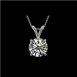 1.25 ctw Certified Quality Diamond Necklace 10K White Gold