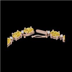 46.5 ctw Citrine & VS/SI Diamond Eternity Necklace 10K Rose Gold