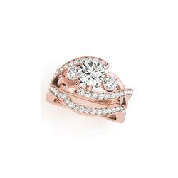 2.29 ctw Certified VS/SI Diamond Bypass 2pc Wedding Set 14K Rose Gold