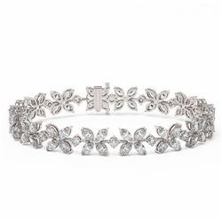 19 ctw Marquise Cut Diamond Designer Bracelet 18K White Gold
