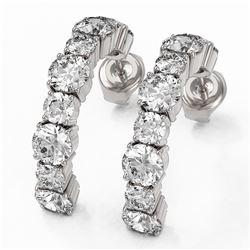 3.64 ctw Diamond Designer Earrings 18K White Gold