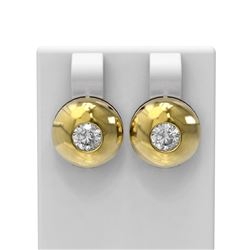 1.04 ctw Diamond Earrings 18K Yellow Gold