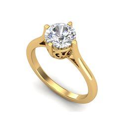 1.25 ctw VS/SI Diamond Solitaire Art Deco Ring 18K Yellow Gold