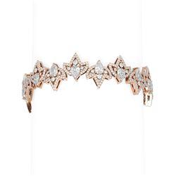 14.29 ctw Diamond Bracelet 18K Rose Gold