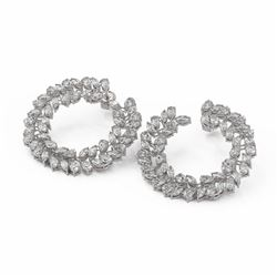 15.5 ctw Marquise and Pear Diamond Earrings 18K White Gold