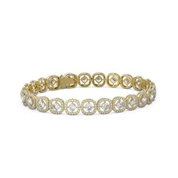 11 ctw Diamond Designer Bracelet 18K Yellow Gold
