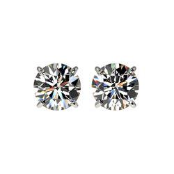 1.52 ctw Certified Quality Diamond Stud Earrings 10K White Gold
