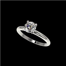 1.05 ctw Certified Quality Diamond Engagement Ring 10K White Gold