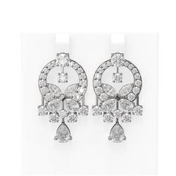 13.13 ctw Diamond Earrings 18K White Gold