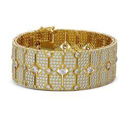 35 ctw Diamond Designer Bracelet 18K Yellow Gold