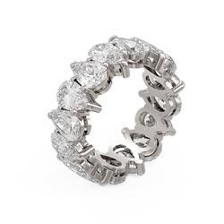 8.32 ctw Pear Diamond Ring 18K White Gold