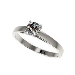 .50 ctw Certified VS/SI Quality Cushion Cut Diamond Ring 10K White Gold