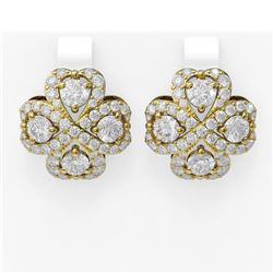 8.25 ctw Diamond Earrings 18K Yellow Gold