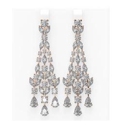 17.56 ctw Diamond Earrings 18K Rose Gold