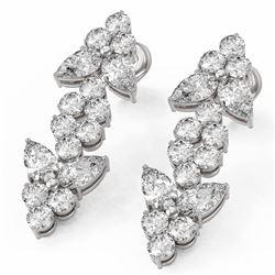 4 ctw Pear Diamond Designer Earrings 18K White Gold