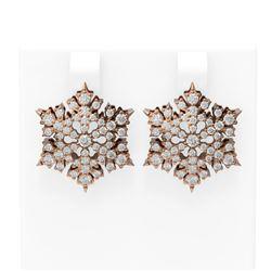 2.75 ctw Diamond Earrings 18K Rose Gold