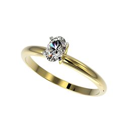 .50 ctw Certified VS/SI Quality Oval Diamond Engagement Ring 10K Yellow Gold