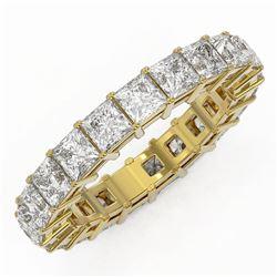 5.46 ctw Princess Cut Diamond Eternity Ring 18K Yellow Gold