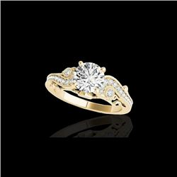 1.5 ctw Certified Diamond Solitaire Antique Ring 10K Yellow Gold