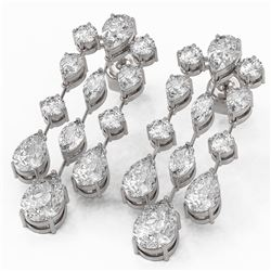 7.36 ctw Pear and Marquise Cut Diamond Earrings 18K White Gold
