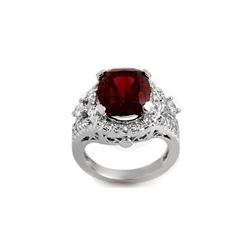 6.15 ctw Pink Tourmaline & Diamond Ring 14K White Gold