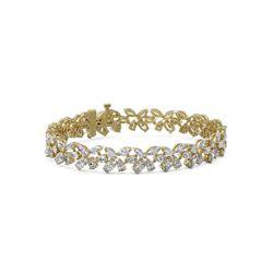 18 ctw Mix Cut Diamonds Designer Bracelet 18K Yellow Gold