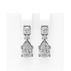 4.75 ctw Diamond Earrings 18K White Gold