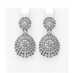 7.73 ctw Diamond Earrings 18K White Gold