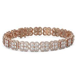 16.5 ctw Diamond Designer Bracelet 18K Rose Gold