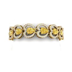 29.14 ctw Canary Citrine & VS Diamond Bracelet 18K Yellow Gold