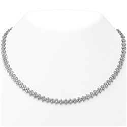 27 ctw Diamond Designer Necklace 18K White Gold