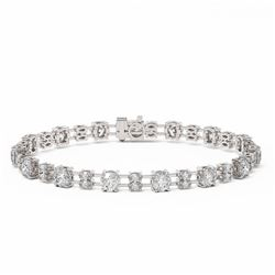 12.32 ctw Marquise Cut Diamond Bracelet 18K White Gold