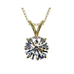 1.29 ctw Certified Quality Diamond Necklace 10K Yellow Gold