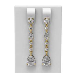 2.84 ctw Diamond Earrings 18K Yellow Gold