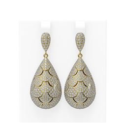 8.28 ctw Diamond Earrings 18K Yellow Gold