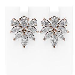 8 ctw Diamond Earrings 18K Rose Gold