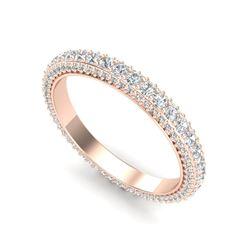 1.75 ctw VS/SI Diamond Art Deco Eternity Ring 18K Rose Gold