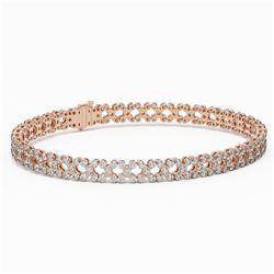 9 ctw Diamond Designer Bracelet 18K Rose Gold