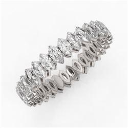 3.9 ctw Marquise Cut Diamond Eternity Ring 18K White Gold
