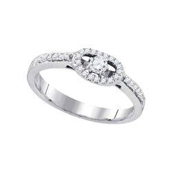 10kt White Gold Round Diamond Solitaire Bridal Wedding Engagement Ring 1/4 Cttw