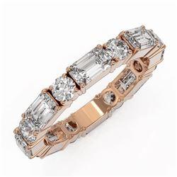 3.12 ctw Emerald Cut Diamond Eternity Ring 18K Rose Gold
