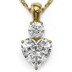 1.25 ctw Heart Diamond Designer Necklace 18K Yellow Gold