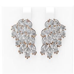 11.26 ctw Marquise Diamond Earrings 18K Rose Gold
