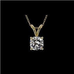 .50 ctw Certified VS/SI Quality Cushion Diamond Necklace 10K Yellow Gold