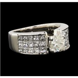 2.90 ctw Diamond Ring - 14KT White Gold