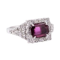 2.02 ctw Ruby And Diamond Ring - 14KT White Gold