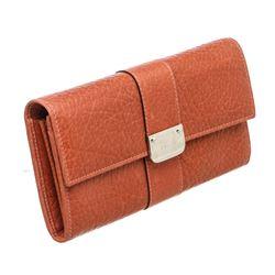 Gucci Orange Leather Long Wallet