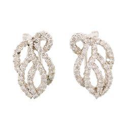 1.2 ctw Diamond Earrings - 18KT White Gold