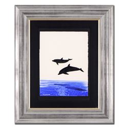 Two Dolphins by Wyland Original